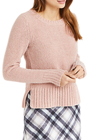 Oasis Chenille Crew Neck Jumper, Powder Pink