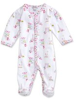 Kissy Kissy Parisian Summer Printed Footie Pajamas, Pink, Size Newborn-12 Months