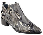 Marc Fisher Yamir Point-Toe Snake-Embossed Leather Booties