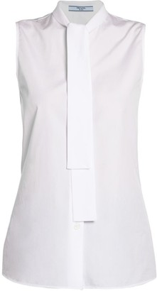 Prada Tie-Neck Sleeveless Blouse