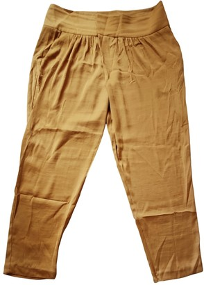 Hoss Intropia \N Yellow Trousers for Women