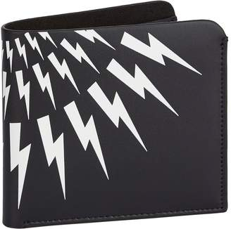 Neil Barrett Leather Thunderbolt Wallet
