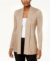 JM Collection Metallic Ribbed Open-Front Cardigan, Created for Macy's