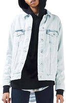 Topshop MOTO Extreme Bleach Denim Jacket
