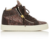 Giuseppe Zanotti Women's Double-Zip Mid-Top Sneakers-BROWN