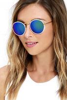 LuLu*s Sharp Focus Tortoise Round Sunglasses
