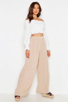 boohoo Tall Cheesecloth Wide Leg Pants