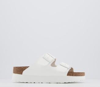 Birkenstock Papillio Arizona Platform Sandals White