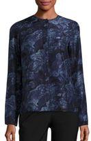 Elizabeth and James Davidson Long Sleeve Silk Blouse