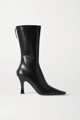 The Row Office Leather Boots - Black
