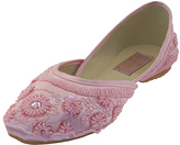Pink Floral Beaded Flat