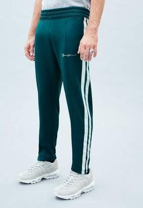 Mennace Teal Blue Tricot Cropped Tracksuit Trousers