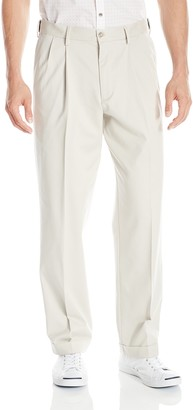 Dockers Relaxed Fit Comfort Khaki Cuffed Pants-Pleated D4