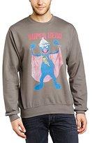 Sesame Street Men's 17. Super Hero Grover Crew Neck Long Sleeve Sweatshirt