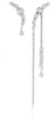 YEPREM 18K White Gold Beyond Limits Earrings