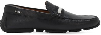 Bally Driver Leather Loafers W/ Stripe