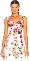 Dolce & Gabbana Brocade Floral Bustier