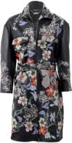 Alexander McQueen Leather Coat With Cross-Stitching