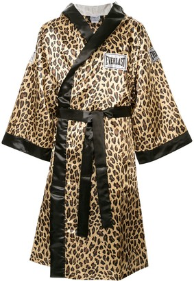 Everlast satin hooded boxing robe