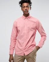 BOSS ORANGE By Hugo Boss Buttondown Shirt Slim Fit 2 Colour Weave In Red
