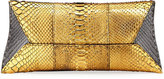 VBH Manila Stretch Metallic Python Clutch Bag