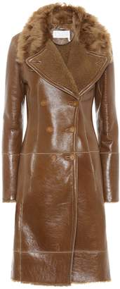 Chloé Shearling-lined leather coat