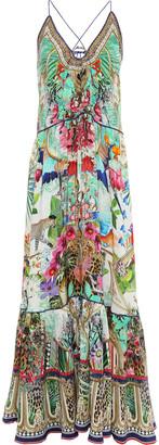 Camilla Embellished Printed Silk Crepe De Chine Maxi Dress