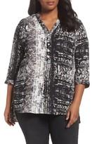 Sejour Plus Size Women's Notch Collar Henley Tunic