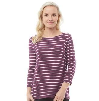Crew Clothing Womens Cassie Stripe Top Berry/Van