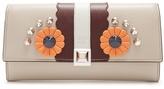Fendi Hypnoteyes embellished leather wallet