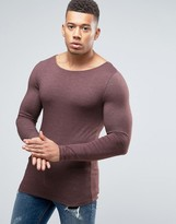 Asos Extreme Muscle Long Sleeve T-Shirt With Boat Neck