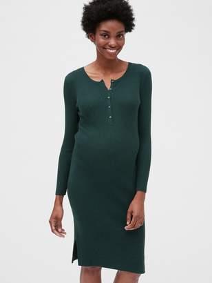 Gap Maternity Ribbed Henley Sweater Dress