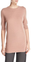 Vince Long Cashmere Half-Sleeve Sweater