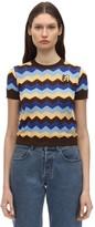 M Missoni Cotton Rib Knit Top