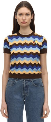 M Missoni Cotton Rib Knit Top