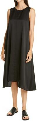 Eileen Fisher Sleeveless Silk Blend Shift Dress