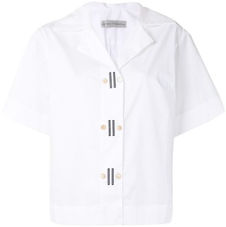Palmer Harding Double-Breasted Short-Sleeved Shirt