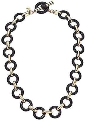 Lauren Ralph Lauren 17 Link Collar Necklace (Jet) Necklace