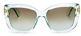 Kate Spade Andrina Rectangular Cat Eye Sunglasses, 54mm
