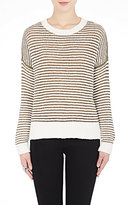 J Brand WOMEN'S ALEXANDRIA STRIPED COTTON-BLEND SWEATER