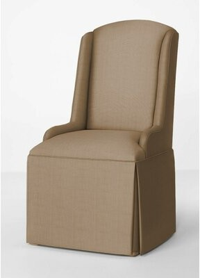 Kelly Clarkson Home Avignon Petite Upholstered Wing Back Skirted Arm Chair Upholstery Color: Tan