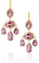 Marie-Hélène de Taillac 20-karat gold pink tourmaline chandelier earrings