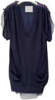 Sacai Navy Silk Top for Women