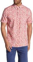 Jack Spade Short Sleeve Flower Trim Fit Shirt