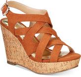 Thalia Sodi Maddora Platform Wide-Width Wedge Sandals, Created for Macy's