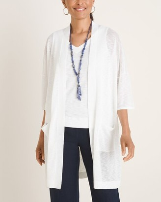 Chico's Two-Pocket Open-Front Cardigan Sweater