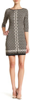 Max Studio Printed Matte Jersey Dress (Petite)