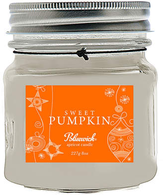 Bluewick Home & Body Co. 8Oz Holiday Mason Jar Collection Sweet Pumpkin Scented Candle