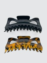 Thumbnail for your product : Kitsch Recycled Plastic Jumbo Classic Claw Clip Set 2 Pack Set