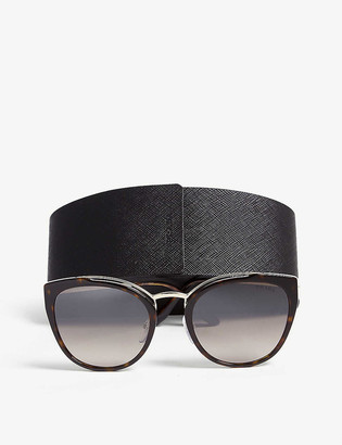 Prada PR20U Havana cat-eye-frame sunglasses